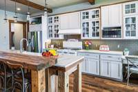 Rustic Modern Kitchen in Idaho Timber Home