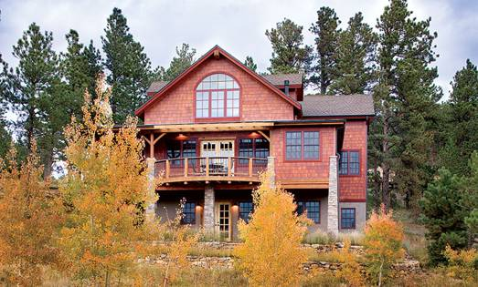 A Colorado Timber Frame Home with a View