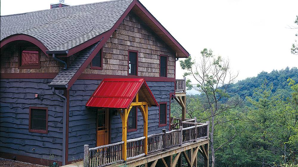 saltbox timber frame home boone mountains