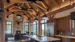 Colorado Timberframe Industrial Kitchen